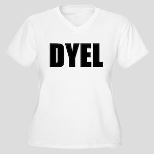 DYEL Women's Plus Size V-Neck T-Shirt