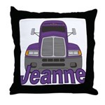 Trucker Jeanne Throw Pillow