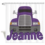 Trucker Jeanne Shower Curtain