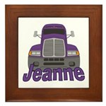 Trucker Jeanne Framed Tile