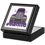 Trucker Jeanne Keepsake Box