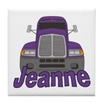 Trucker Jeanne Tile Coaster