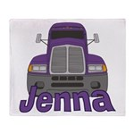 Trucker Jenna Throw Blanket