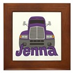 Trucker Jenna Framed Tile