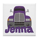 Trucker Jenna Tile Coaster