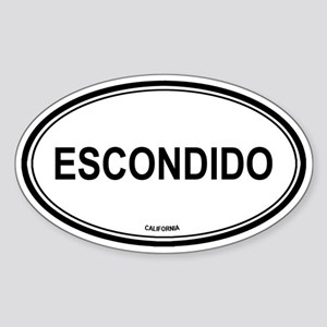 Escondido (California) Oval Sticker
