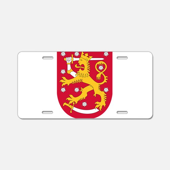 Finland Coat Of Arms Aluminum License Plate