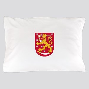 Finland Coat Of Arms Pillow Case