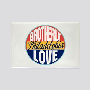 Philadelphia Vintage Label Rectangle Magnet