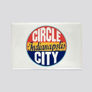 Indianapolis Vintage Label Rectangle Magnet