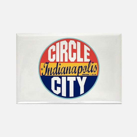 Indianapolis Vintage Label Rectangle Magnet