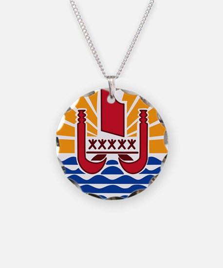 French Polynesia Coat Of Arms Necklace