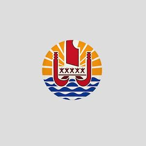 French Polynesia Coat Of Arms Mini Button