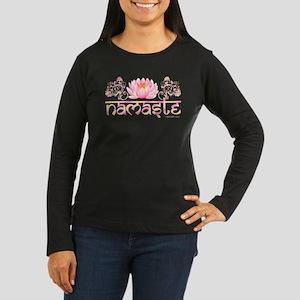 www.YogaGlam.com Women's Long Sleeve Dark T-Shirt