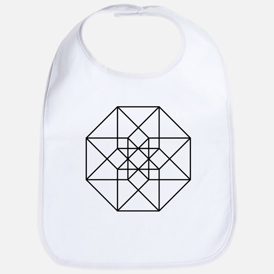 Geometrical Tesseract Baby Bib