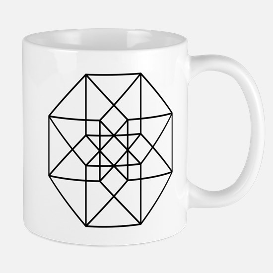 Geometrical Tesseract Coffee Mug
