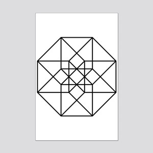 Geometrical Tesseract Mini Poster Print