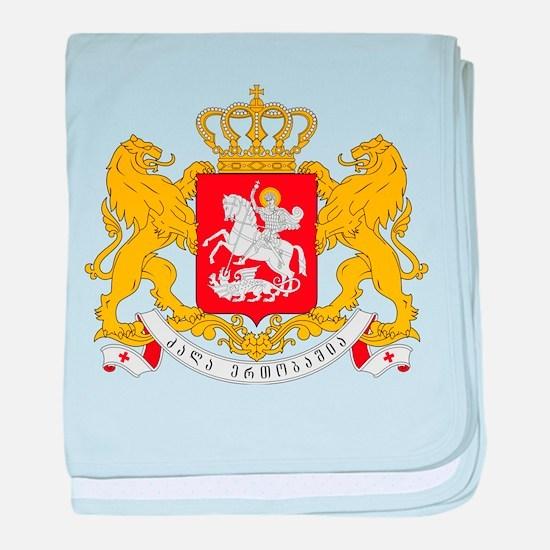 Georgia Coat Of Arms baby blanket