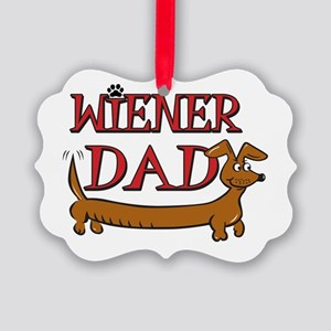 Wiener Dad/Octoberfest Picture Ornament