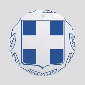 Greece Coat Of Arms Ornament (Round)