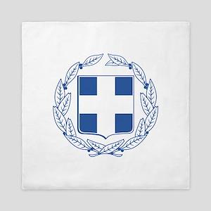 Greece Coat Of Arms Queen Duvet