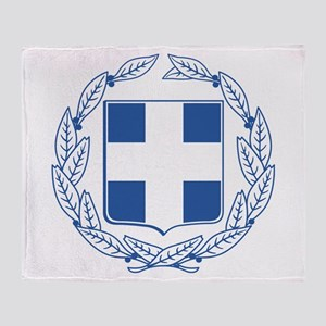 Greece Coat Of Arms Throw Blanket