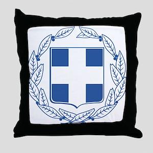 Greece Coat Of Arms Throw Pillow