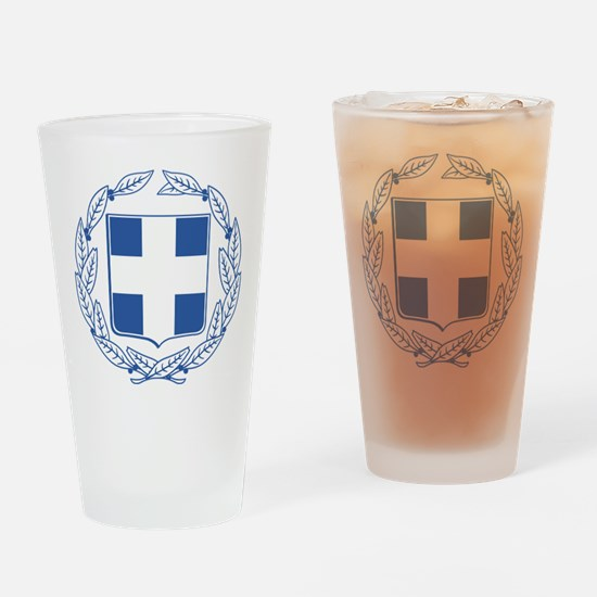 Greece Coat Of Arms Drinking Glass
