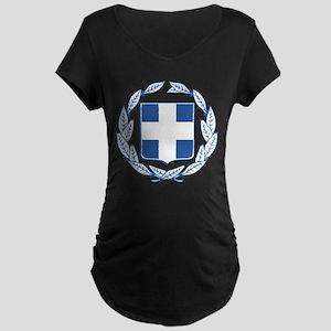 Greece Coat Of Arms Maternity Dark T-Shirt