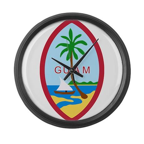 Guam Coat Of Arms Large Wall Clock