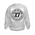 Live fast, die young Kids Sweatshirt