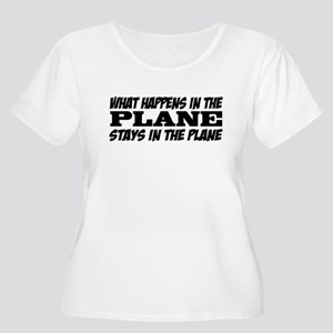What Happens in the Plane Women's Plus Size Shirt