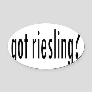 gotRiesling Oval Car Magnet