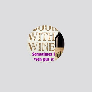 ICookWithWine Mini Button