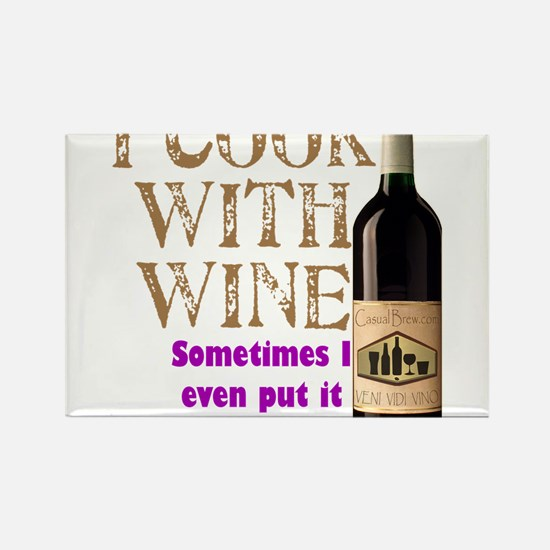 ICookWithWine.PNG Rectangle Magnet (100 pack)