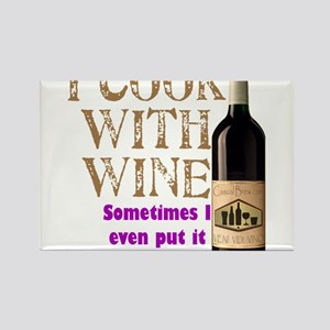ICookWithWine.PNG Rectangle Magnet