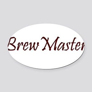 BrewMasterFilledBrown.png Oval Car Magnet