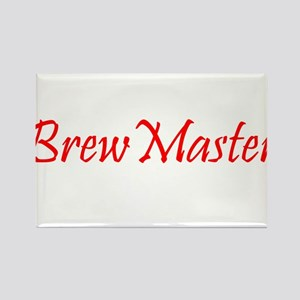 BrewMasterFilledRed Rectangle Magnet