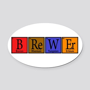 Periodic-BOCK.png Oval Car Magnet