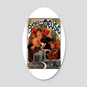 BieresDeLaMeuse.png Oval Car Magnet