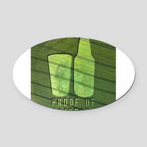 3-CropCircle.png Oval Car Magnet