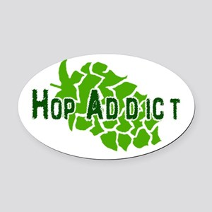 HopAddictCP.png Oval Car Magnet