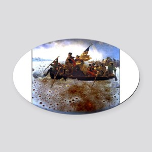 CrossingTheAle-ware.png Oval Car Magnet