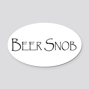 BeerSnobCP.png Oval Car Magnet