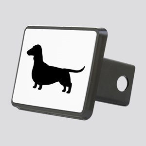 Dachshund Silhouette Rectangular Hitch Cover