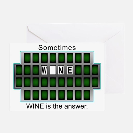 2-WineAnswer Greeting Cards