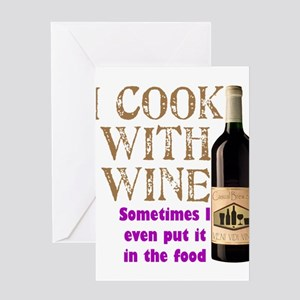 ICookWithWine.PNG Greeting Card