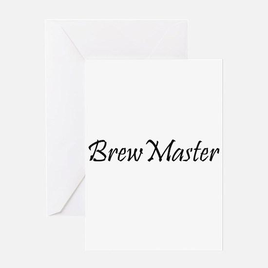 BrewMasterFilledBlack.png Greeting Card