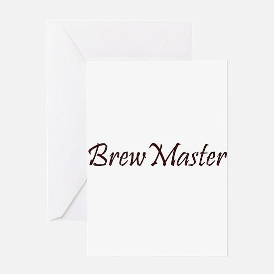 BrewMasterFilledBrown.png Greeting Card