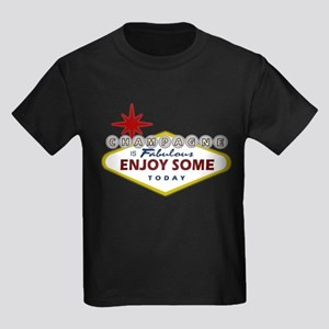 Las Vegas Champagne Kids Dark T-Shirt